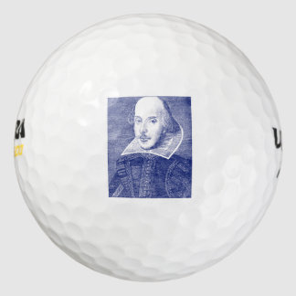 Folio del retrato de William Shakespeare primer Pack De Pelotas De Golf