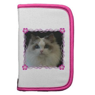 Folio del retrato del gato de Ragdoll mini Planificador