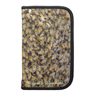 Folio elegante del teléfono de la abeja ocupada planificador