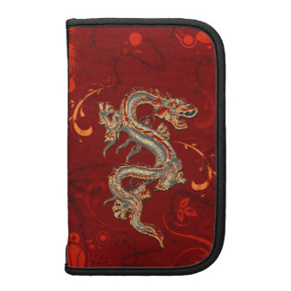 Folio elegante del teléfono del dragón chino de la planificador