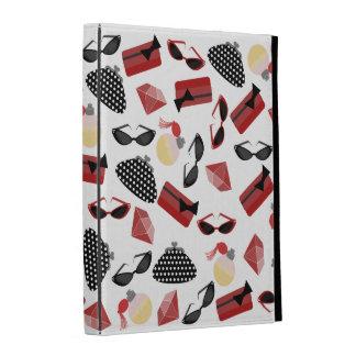 Folio femenino del iPad de los accesorios