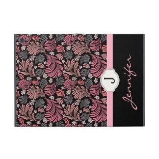 Folio floral de lujo del monograma del Flourish iPad Mini Cobertura
