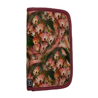 Folio floral del carrito de las margaritas rosadas organizadores