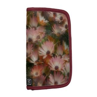 Folio floral rosado del carrito de las margaritas  planificador