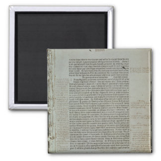 Folio from Pierre d'Ailly's 'Imago Mundi' 2 Inch Square Magnet