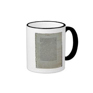 Folio from Pierre d'Ailly's 'Imago Mundi' Ringer Coffee Mug