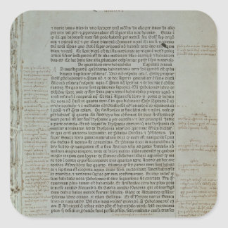 Folio from Pierre d'Ailly's 'Imago Mundi' Square Sticker