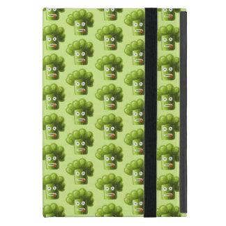 Folio Green Funny Cartoon Broccoli Pattern Folio iPad Mini Cases