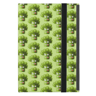 Folio Green Funny Cartoon Broccoli Pattern Folio iPad Mini Cover