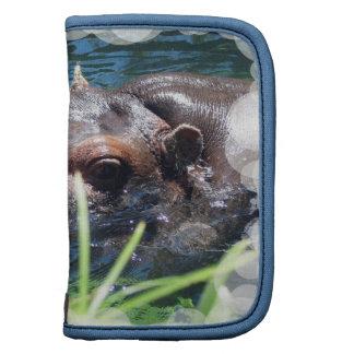 Folio hambriento de la cartera del hipopótamo organizador