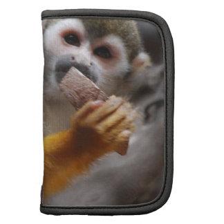 Folio hambriento de la cartera del mono de ardilla planificadores
