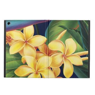 Folio hawaiano del aire del iPad del Plumeria del