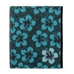 Folio hawaiano del iPad del hibisco de la isla