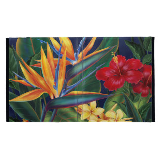 Folio hawaiano del iPad del paraíso tropical
