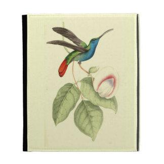 Folio Hoz-Con alas del iPad del pájaro del tarareo