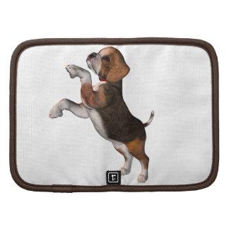 Folio juguetón de la cartera del beagle planificadores