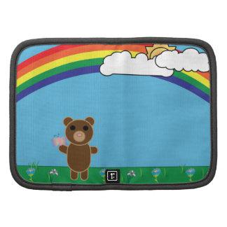 Folio lindo del carrito del oso organizadores