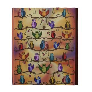 folio lindo del ipad de los búhos