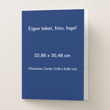 Professional Business Folio Mappen uni Blauw Pocket Folder