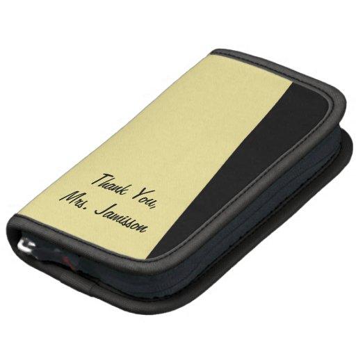 Folio Mini, Stripe of Color, Your Text Folio Planners