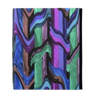 Folio ondulado colorido del iPad del extracto de l