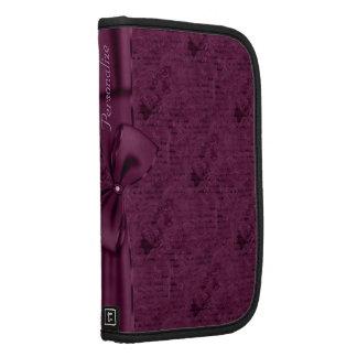 Folio personalizado cinta púrpura gótica del vinta planificadores