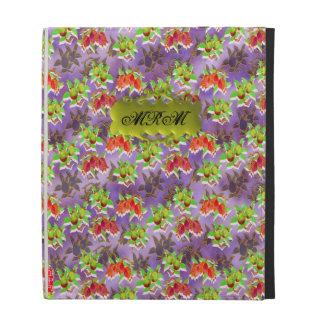 Folio personalizado floral delicado bonito del iPa