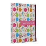 Folio personalizado modelo del iPad del caramelo y