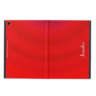 Folio personalizado pendiente roja brillante
