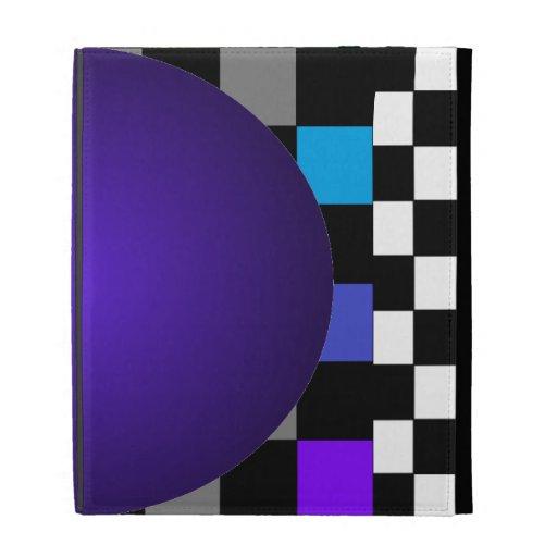 Folio púrpura del iPad de la bola 2 del tablero de