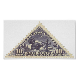 Folio púrpura del sello del triángulo de Tannu Tuv Poster