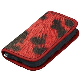 Folio rojo de la impresión del guepardo planificadores