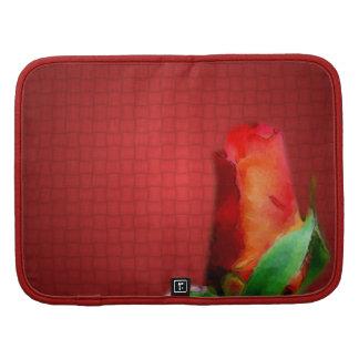 Folio rojo del carrito del arte de la flor del cap planificadores