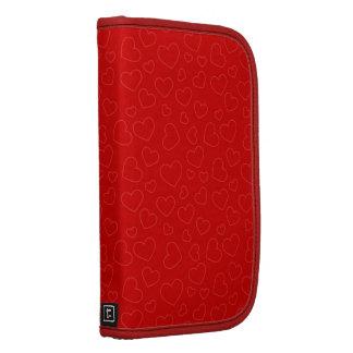 Folio rojo minúsculo del carrito del modelo de los planificador