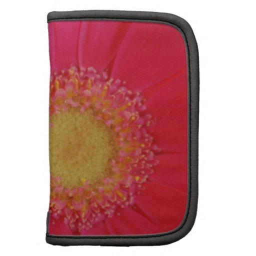 Folio rosado de la margarita del Gerbera Planificadores
