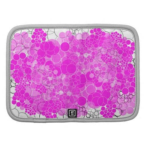 Folio rosado del carrito de la flor de la burbuja planificadores