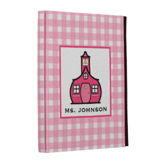 Folio rosado del iPad de la guinga para los profes