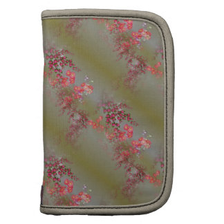 Folio rosado elegante del carrito del estampado de planificadores