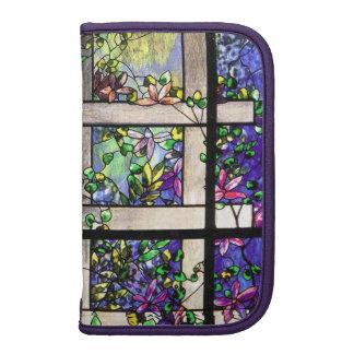 Folio Smartphone del carrito del vitral de Tiffany Organizadores
