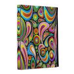 Folio universal del iPad de los colores del diseño