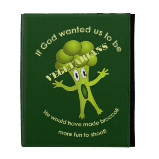 Folio vegetariano divertido del iPad de la cita