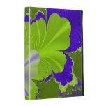 Folio verde y púrpura del iPad de la hoja