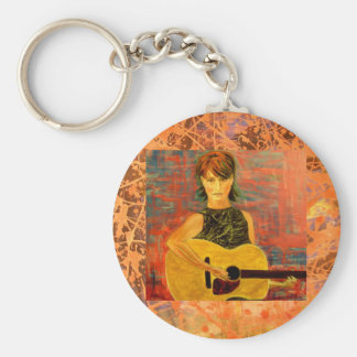 folk acoustic girl cool drip keychains