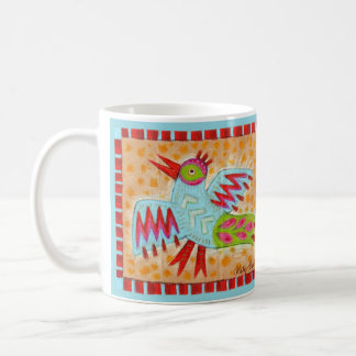 Folk Art Blue Bird Coffee Mug