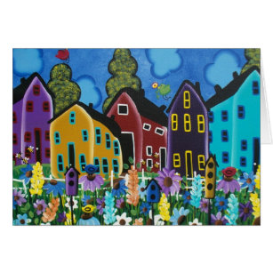 Busy as a bee greeting cards zazzle folk art busy bee by lori everett greeting cards m4hsunfo