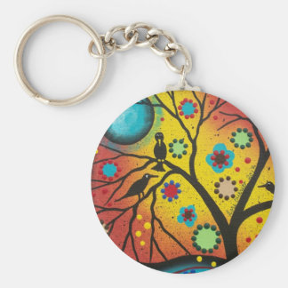 FOLK ART BY LORI EVERETT A Morning With You Basic Round Button Keychain