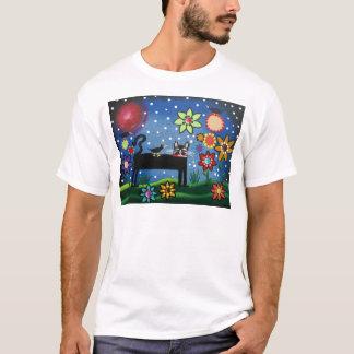 Folk Art By Lori Everett Cat With Attitude T-Shirt