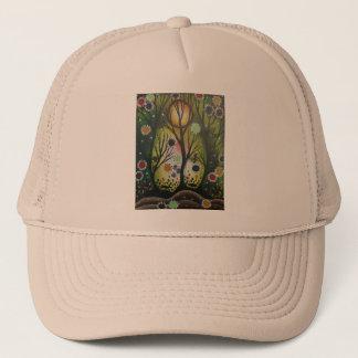 Folk Art_By Lori Everett, Day Of The Dead,Tree Art Trucker Hat
