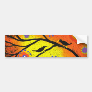 FOLK ART BY LORI EVERETT Family Tree Bumper Sticker