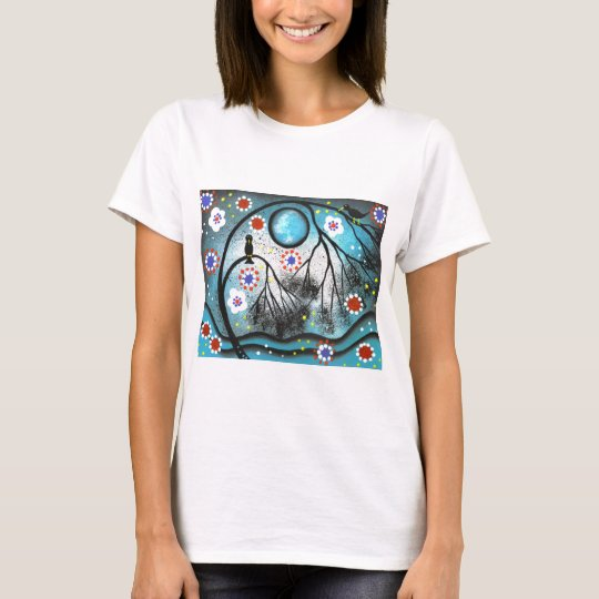 FOLK ART BY LORI EVERETT Lovers Tree T-Shirt